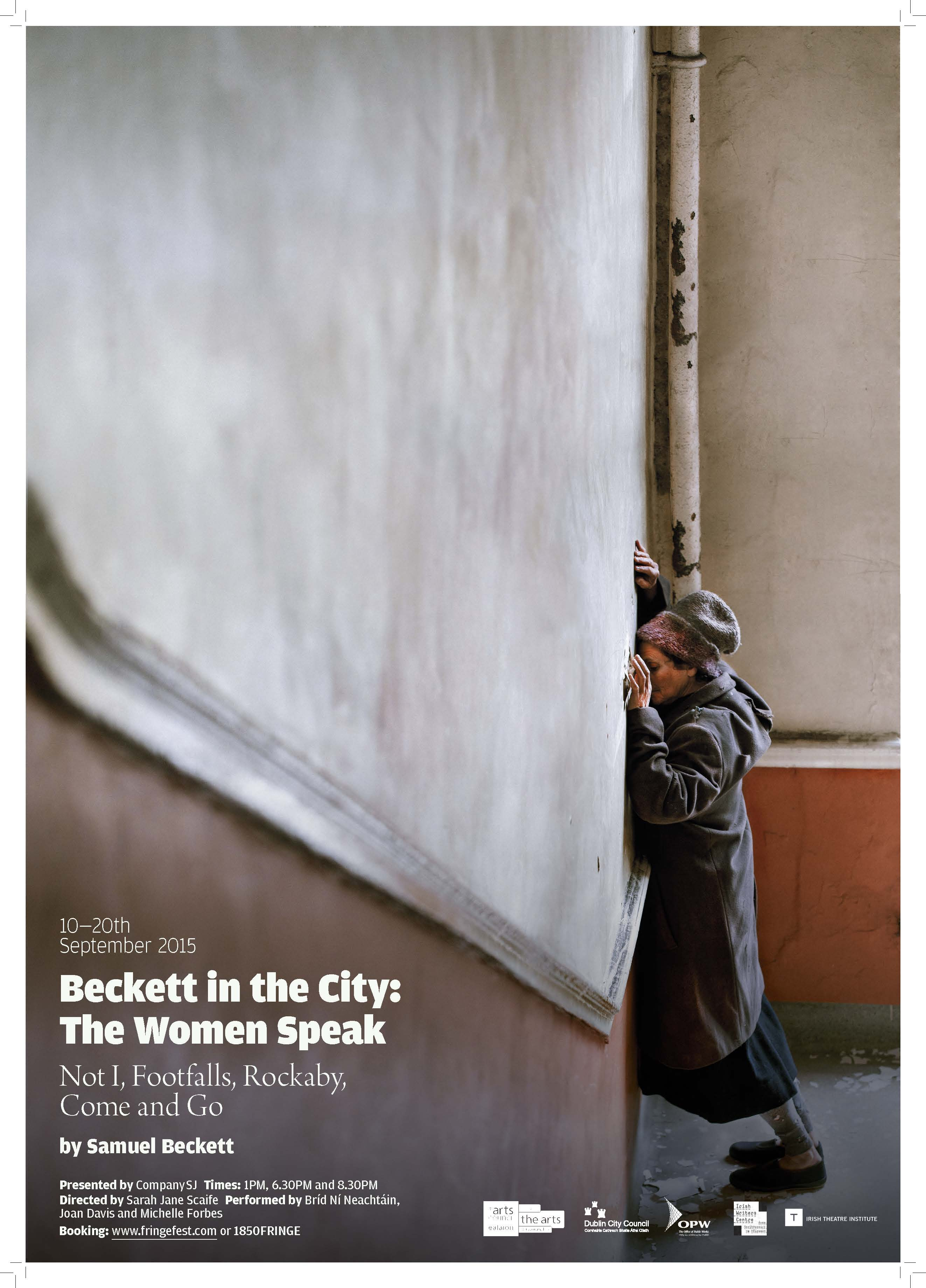 The Woman Speak by Samuel Beckett. Company SJ. Tiger Dublin Fringe