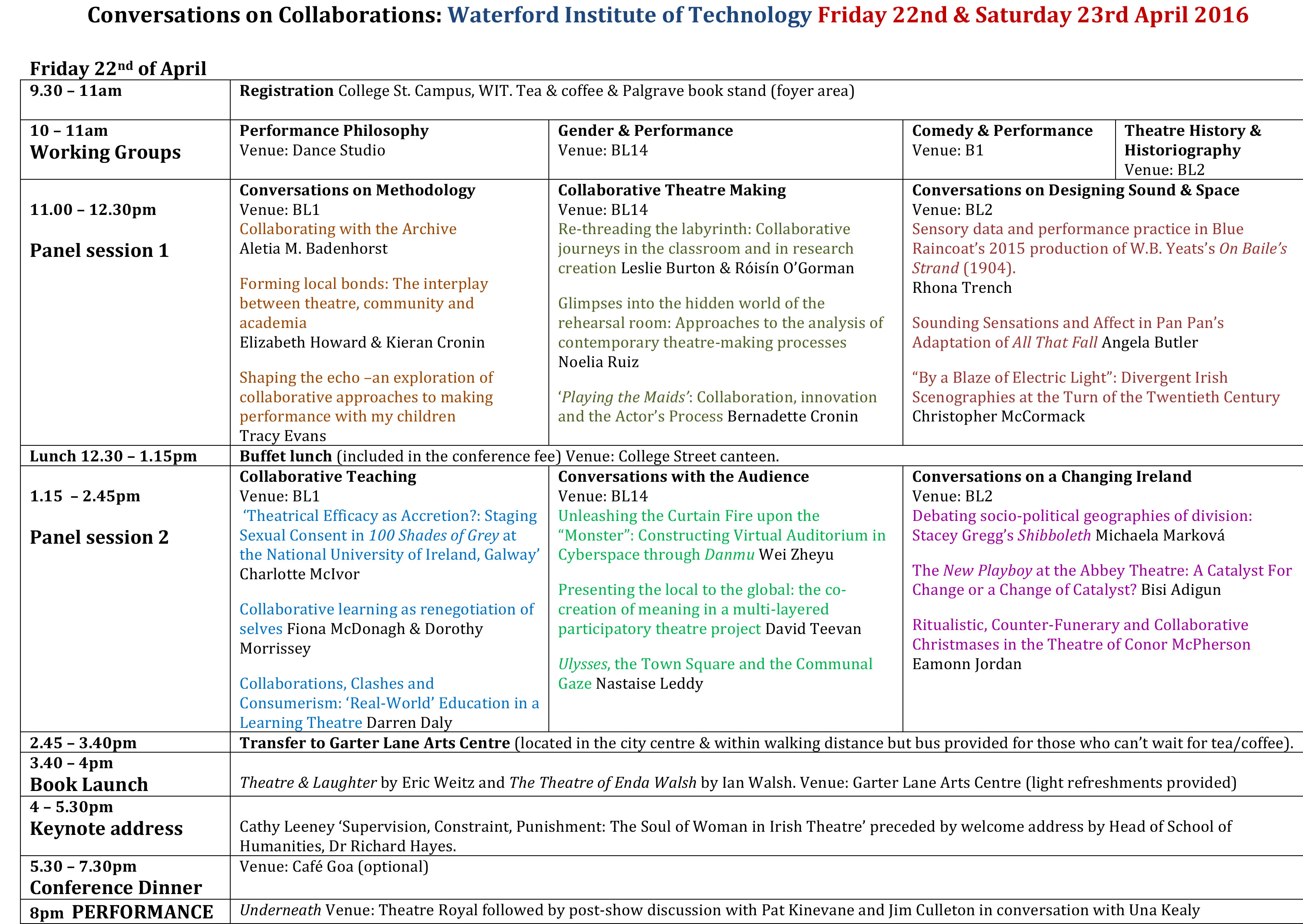 Conference-Schedule-ISTR@WIT-2016